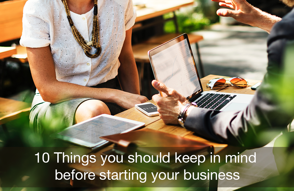 Image for 10 things before starting business